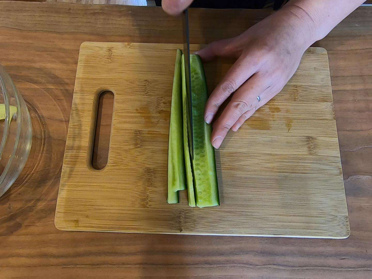 Slicing Cucumber for Sushi