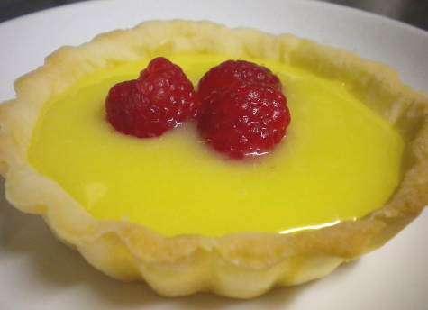 Lemon Tart with Fresh Raspberries