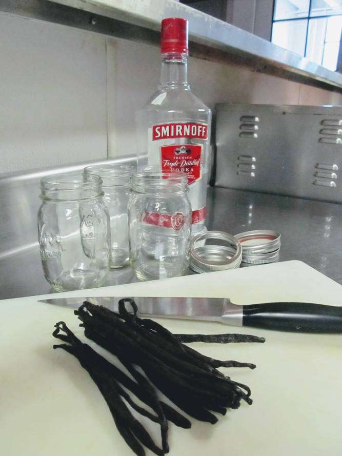 Ingredients for Homemade Vanilla Extract