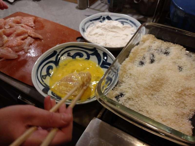 Breading Chicken Katsu