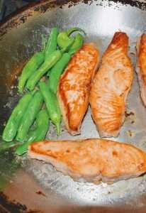 Frying Koji Marinated Salmon