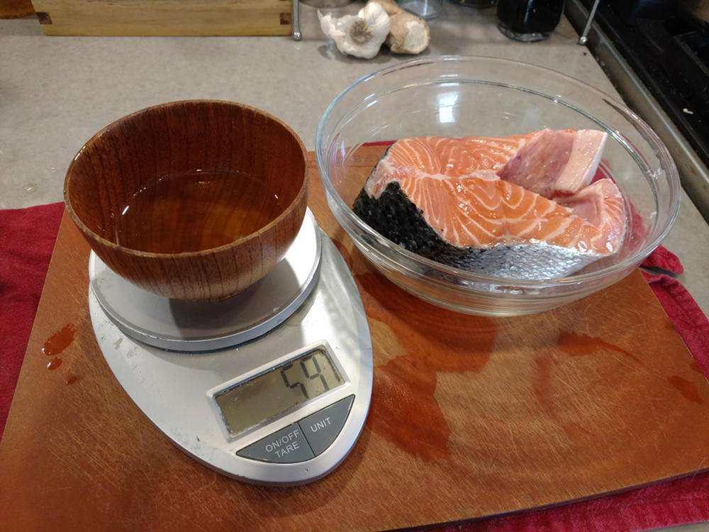 Preparing Koji Marinated Salmon
