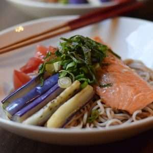 Grilled Salmon Soba