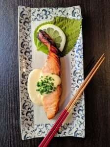 salmon marinated in citrus miso