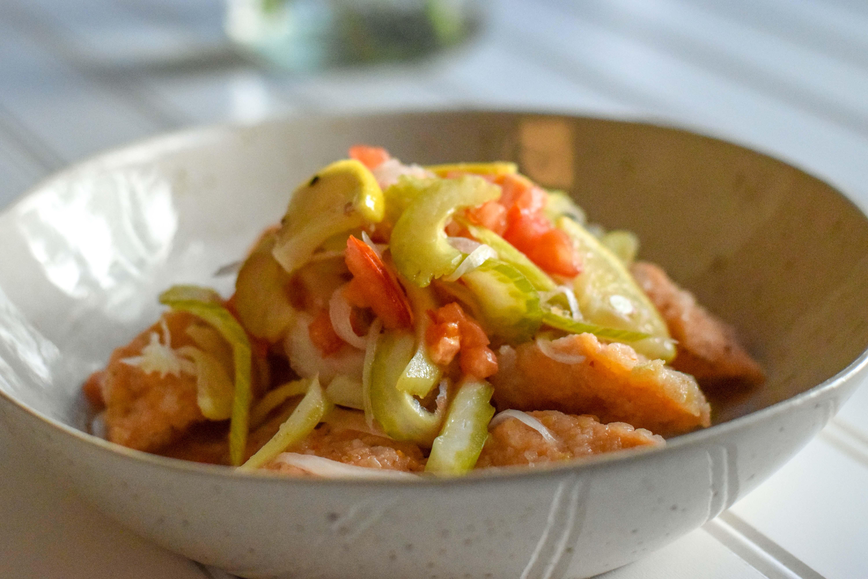 Marinated Fried Salmon | Nanbanzukue