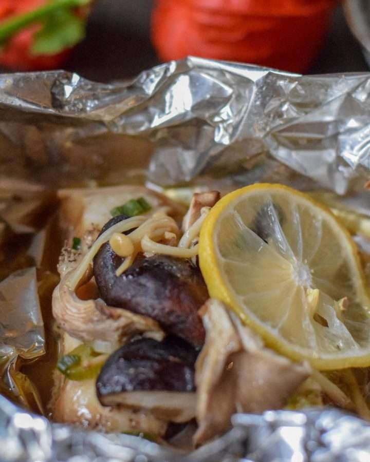 Foil-Yaki Style Black Cod and Mushrooms