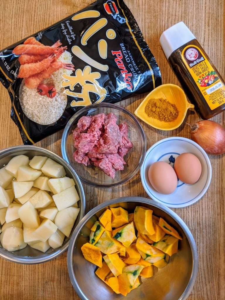 Kabocha Croquettes ingredients