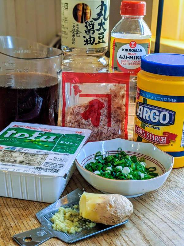 Agedashi Tofu Ingredients