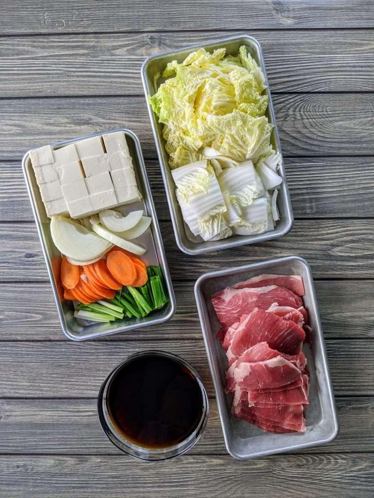 Sukiyaki Ingredients 2