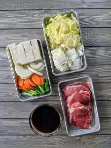Sukiyaki Ingredients