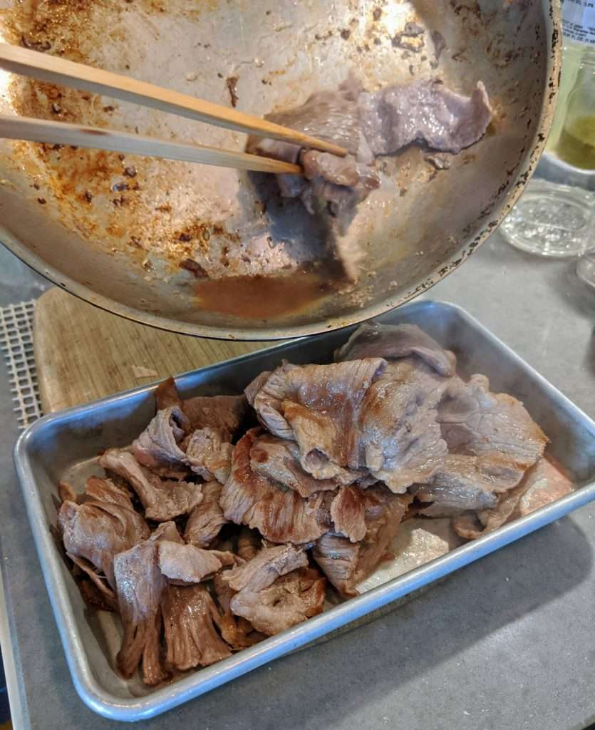 Sukiyaki Beef Cooking Finish