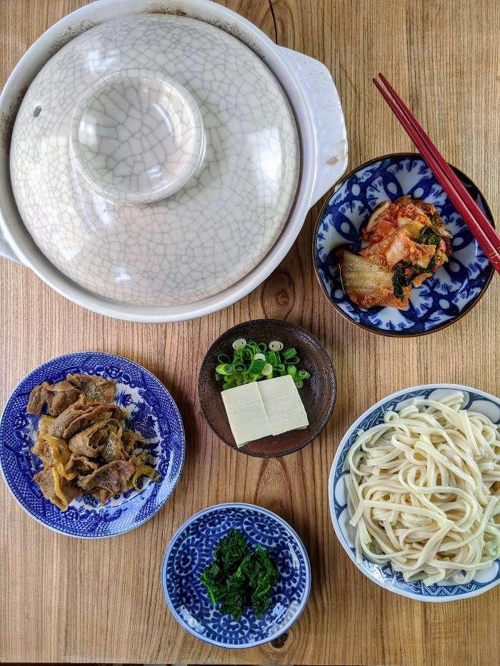 Kimchi Nabeyaki Ingredients
