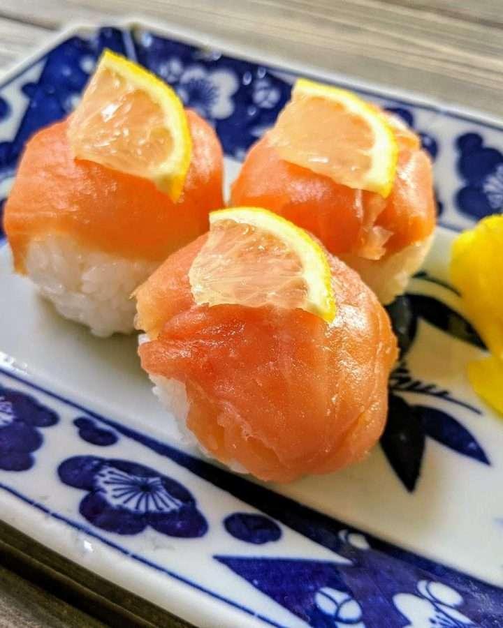 Smoked Salmon Maru Sushi