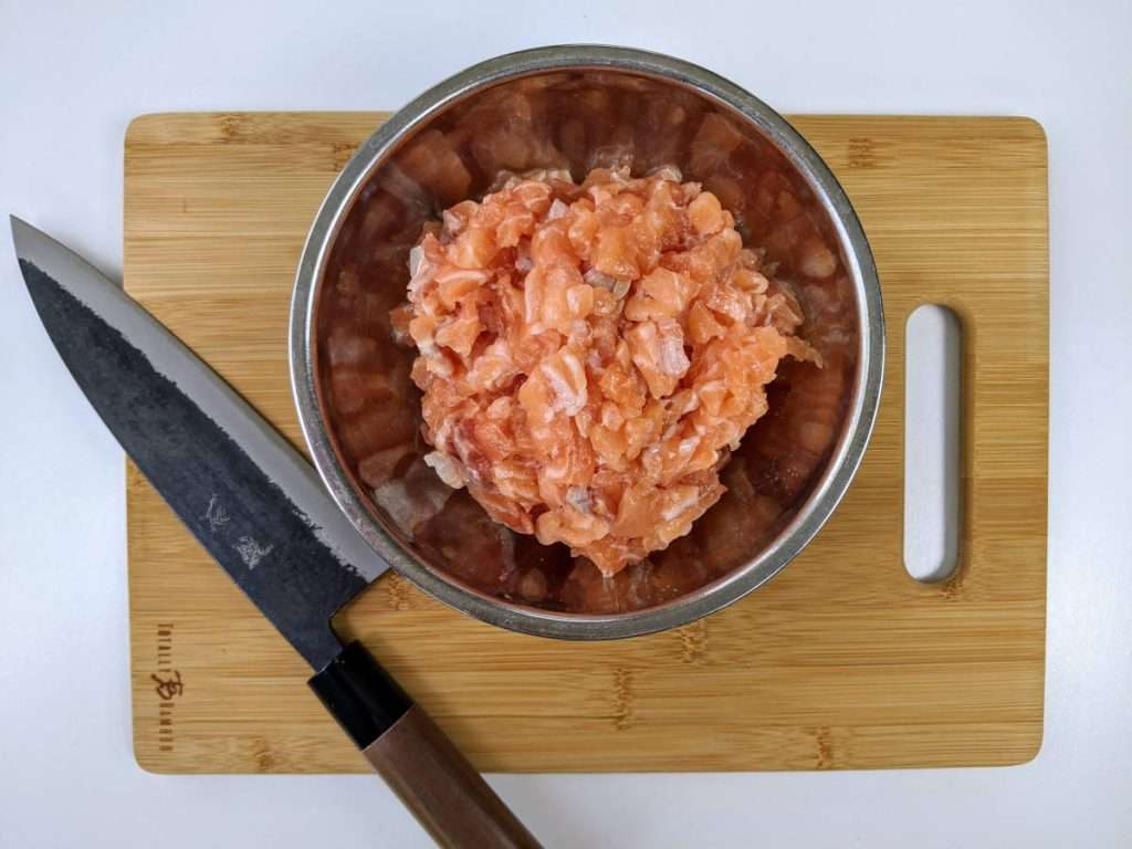 Salmon Cakes_Chopping