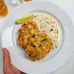 Salmon Cakes with Sweet Corn