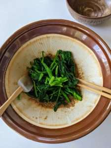 Spinach with Sesame Tossing