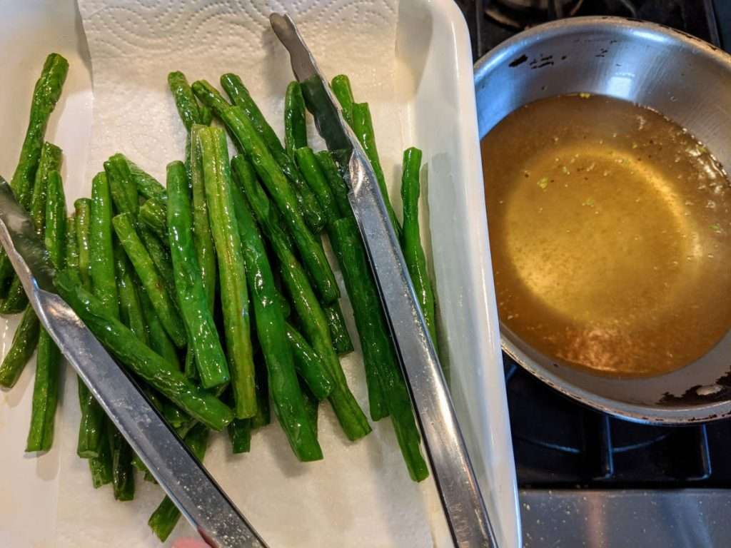 Warm Green Beans Salad_Frying