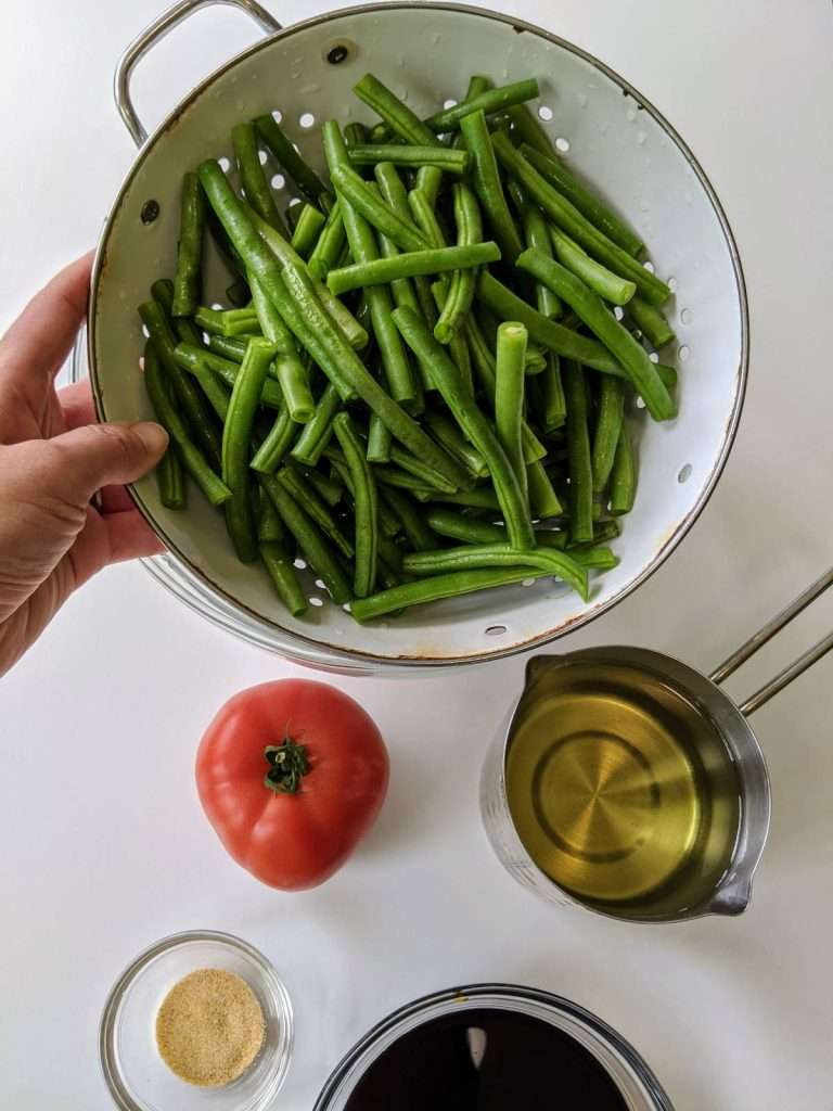Warm Green Beans Salad_Igredients