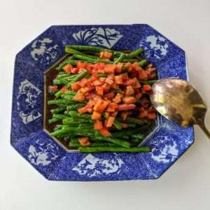 Warm Green Beans Salad 12x12