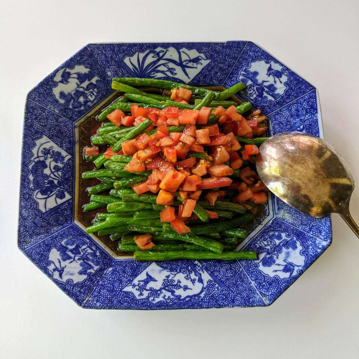Warm Green Beans Salad 12x12