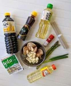 Wild Mushroom Soba Ingredients