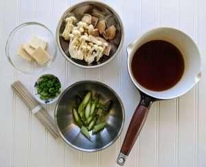 Wild Mushroom Prepping the Ingredients