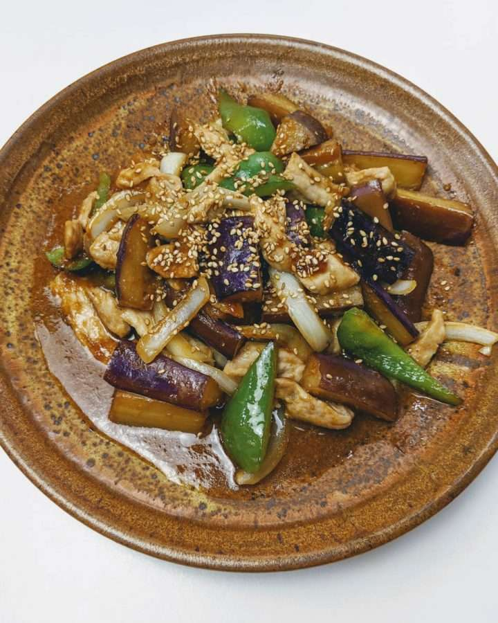 Miso Itame, A Stir Fry with Miso, Eggplant and Pork