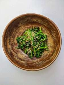 Spinach with Sesame Seeds Pinterest