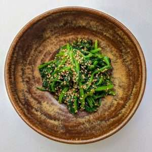 Spinach with Sesame Seeds