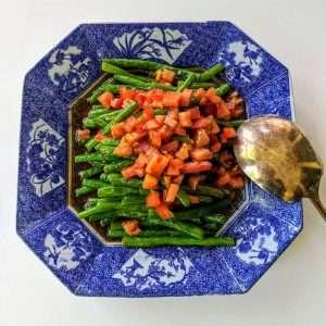 Warm Green Bean Salad with Ponzu