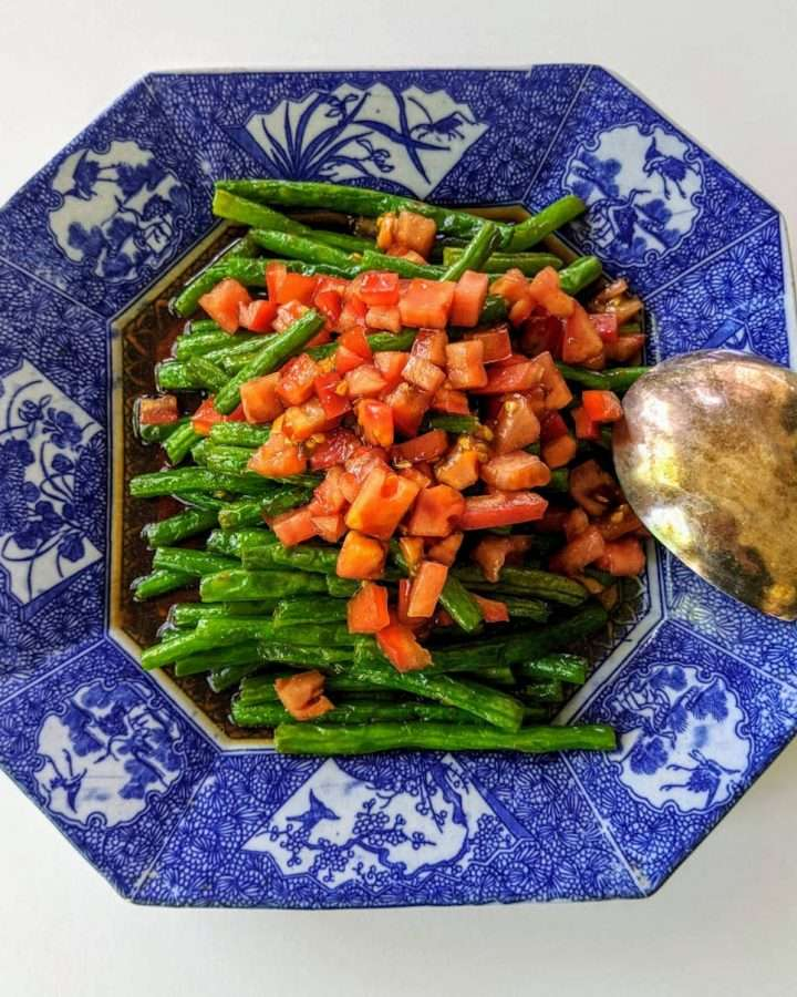 Warm Green Bean Salad with Ponzu