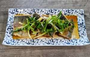 Rainbow Trout_blue plate
