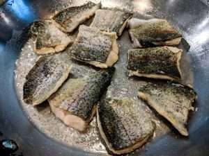 Frying Rainbow Trout