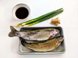 Rainbow Trout with Ponzu Ingredients