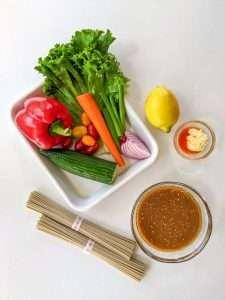Soba Noodle Salad Ingredients