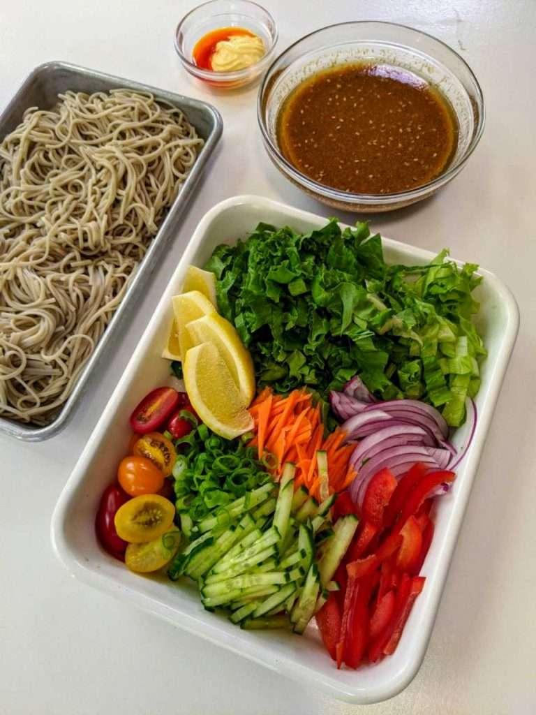 Soba Salad Ingredients