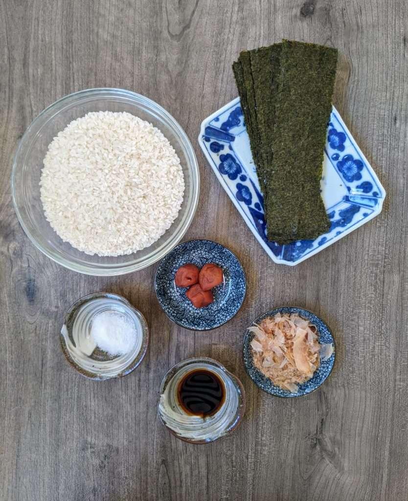 Onigiri Ingredients
