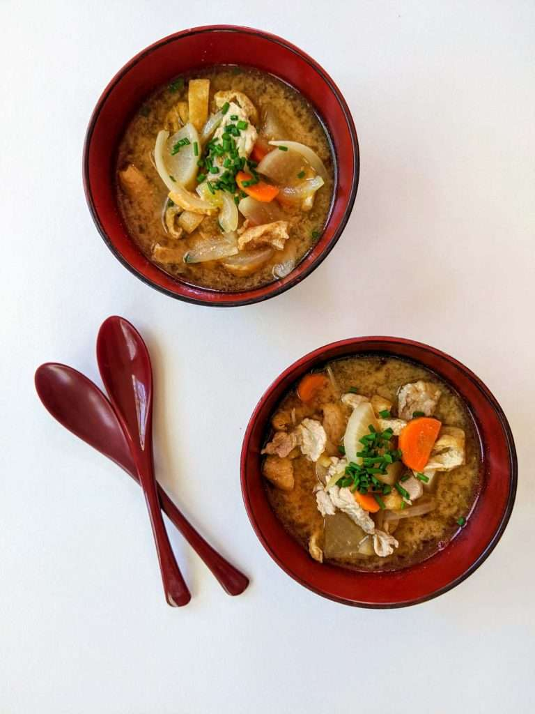 Country Style Miso Soup with Pork and Root Vegetables