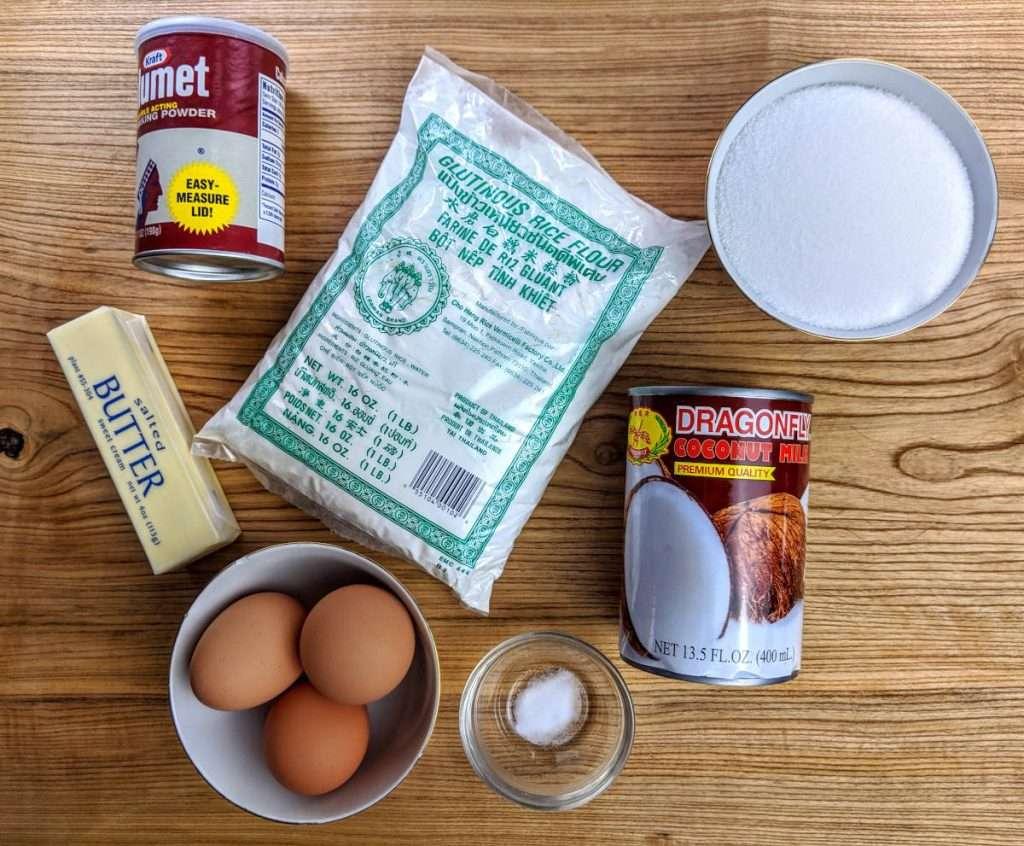 Ingredients for Baked Mochi