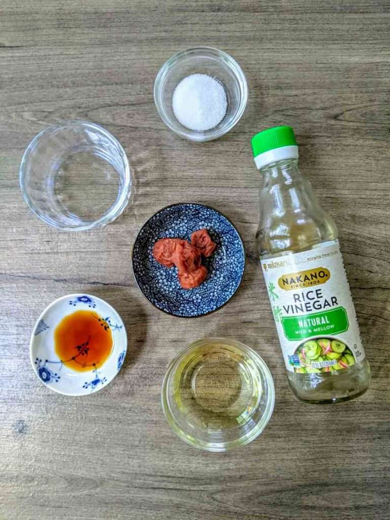 Umeboshi Dressing Ingredients